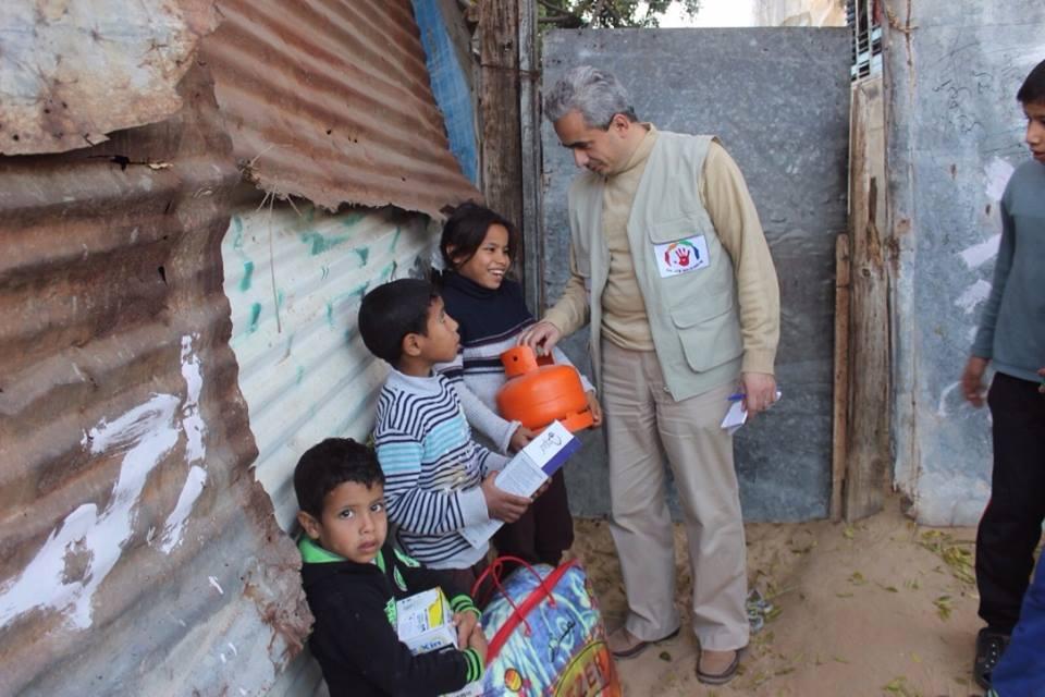 Distribution des kits d'hiver dans la Bande de Gaza