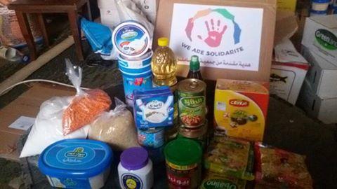 Distribution de kits alimentaires à Gaza